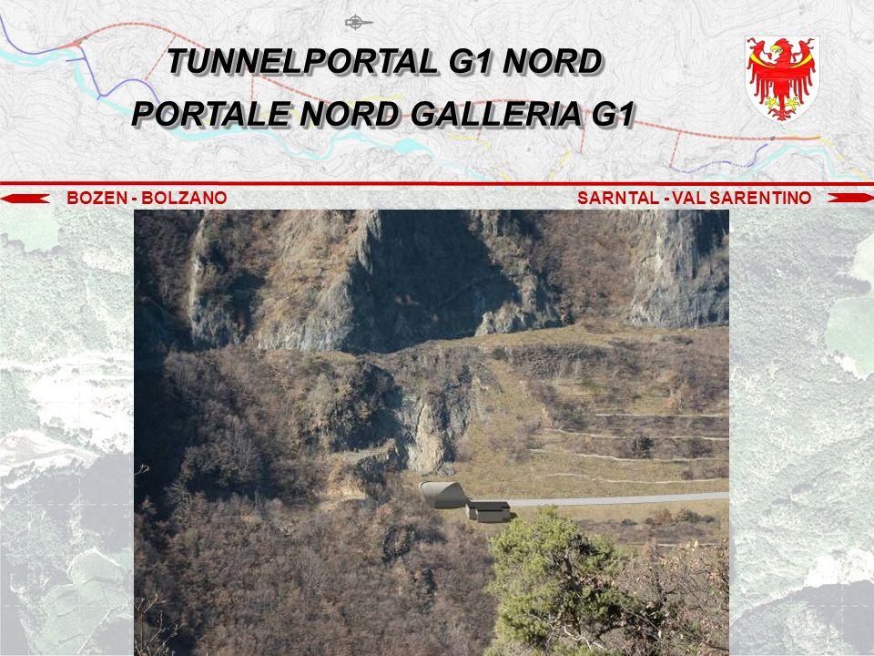 BOZEN - BOLZANOSARNTAL - VAL SARENTINO Südportal G2 Portale sud G2 TUNNEL G2 GALLERIA G2 EHEMALIGER STEINBRUCH GOLDEGG EX CAVA GOLDEGG TUNNEL G1 GALLERIA G1 Nordportal G1 Portale nord G1 FREIE STRECKE (GOLDEGG) TRATTO ALL'APERTO (GOLDEGG)