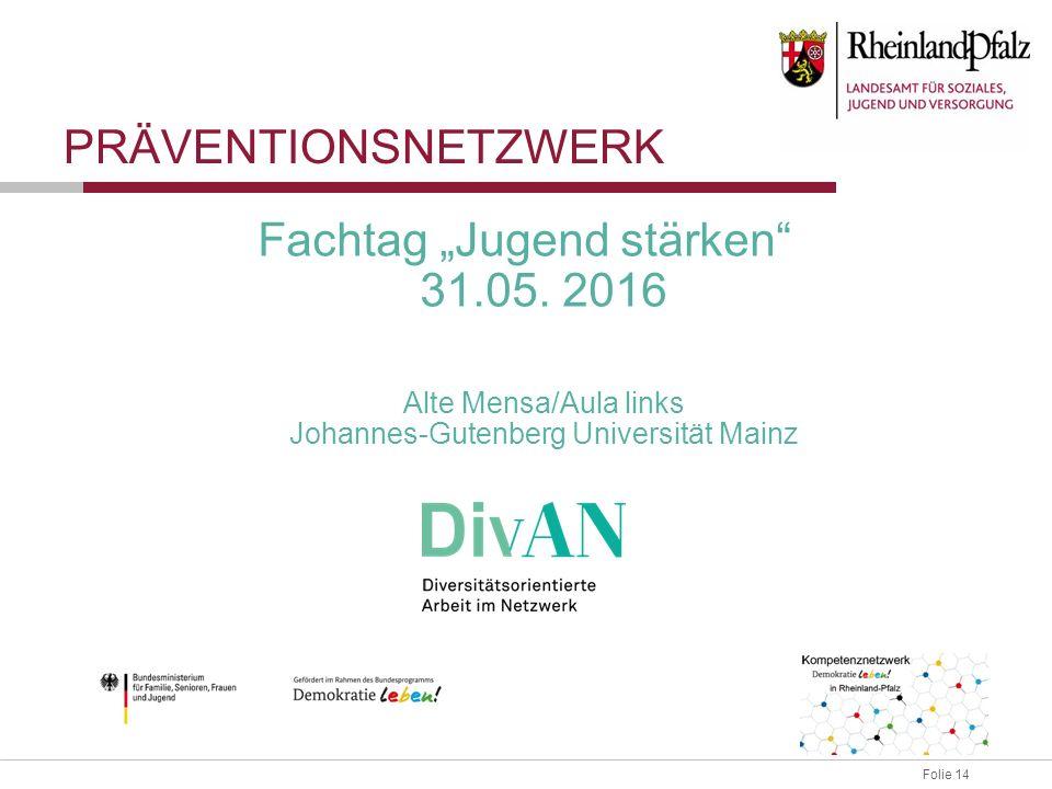 """Folie 14 Fachtag """"Jugend stärken 31.05."""
