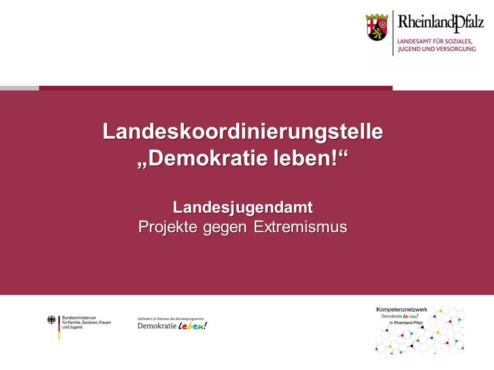 """Landeskoordinierungstelle """"Demokratie leben! Landesjugendamt Projekte gegen Extremismus"""