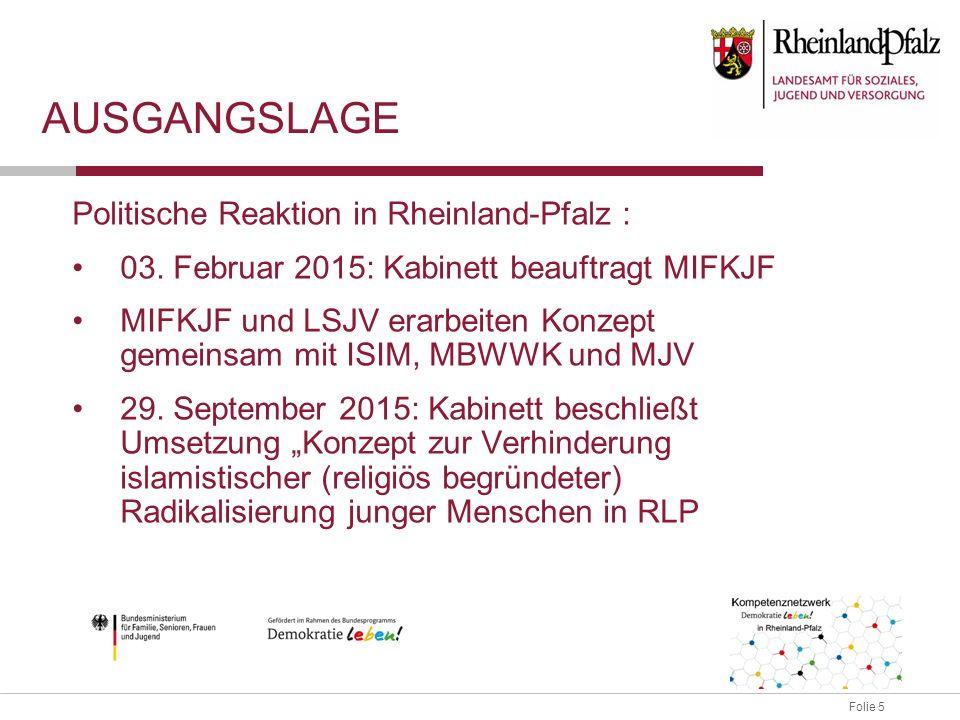 Folie 5 AUSGANGSLAGE Politische Reaktion in Rheinland-Pfalz : 03.