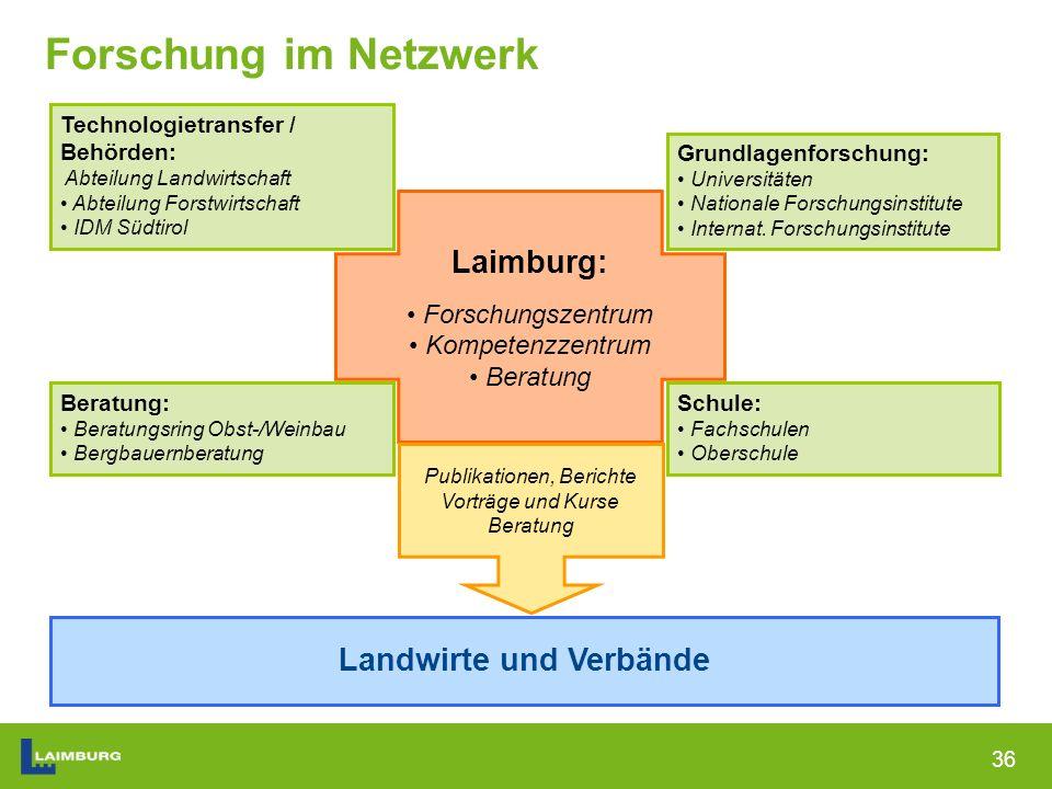 36 Forschung im Netzwerk Grundlagenforschung: Universitäten Nationale Forschungsinstitute Internat.