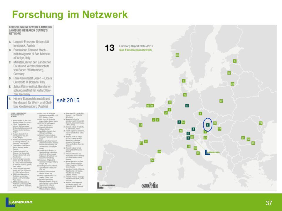 37 seit 2015 Forschung im Netzwerk