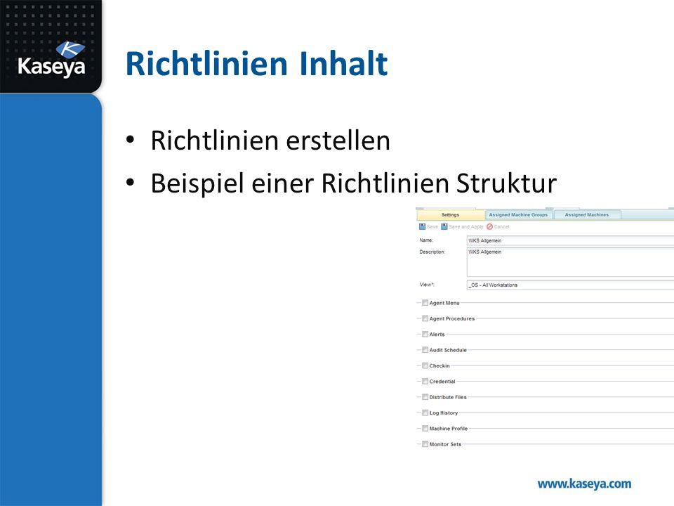 Richtlinien Inhalt Richtlinien erstellen Beispiel einer Richtlinien Struktur