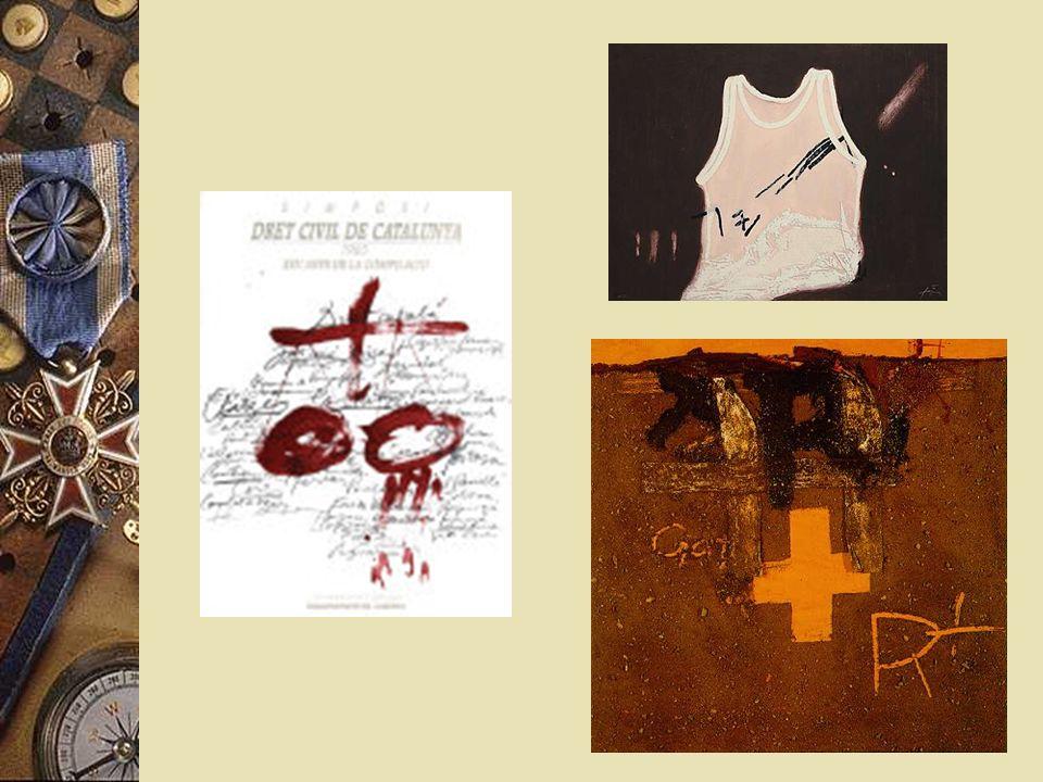 Antoni Tápies * 1923 * Bedeuternster Künstler Spaniens * Themen mit religiöse Elemente * malte Portraits im Stil von van Gogh & Picasso