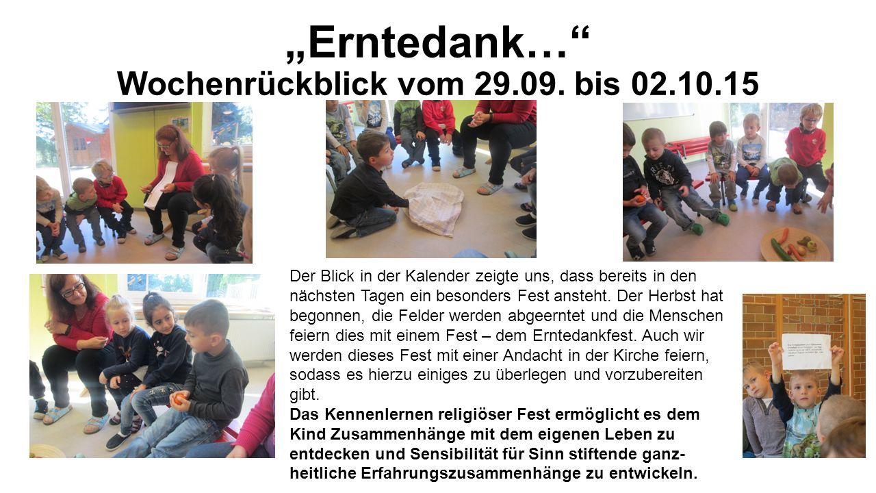 """""""Erntedank… Wochenrückblick vom 29.09."""