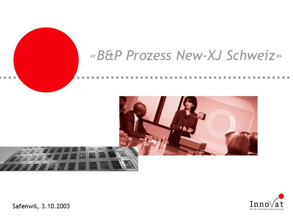 «B&P Prozess New-XJ Schweiz» Safenwil, 3.10.2003