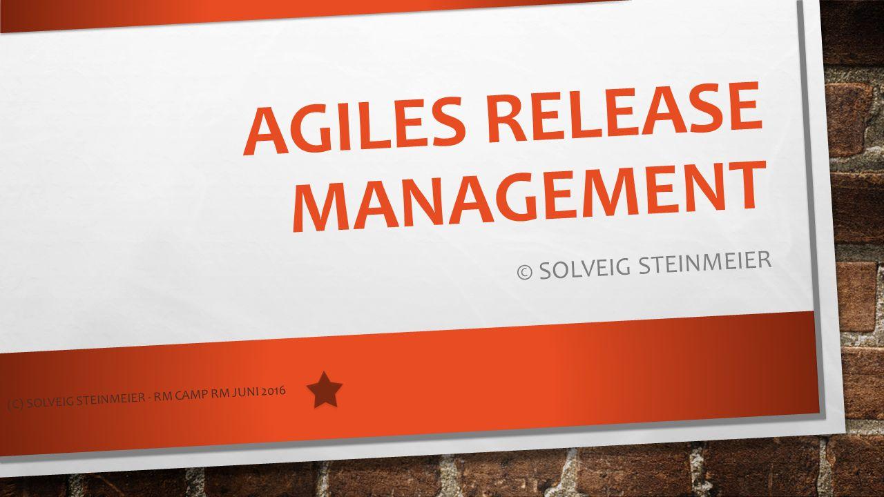 AGILES RELEASE MANAGEMENT © SOLVEIG STEINMEIER (C) SOLVEIG STEINMEIER - RM CAMP RM JUNI 2016