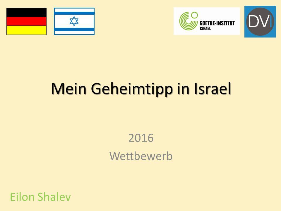 Mein Geheimtipp in Israel 2016 Wettbewerb Eilon Shalev