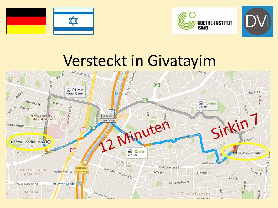 Versteckt in Givatayim Sirkin 7 12 Minuten