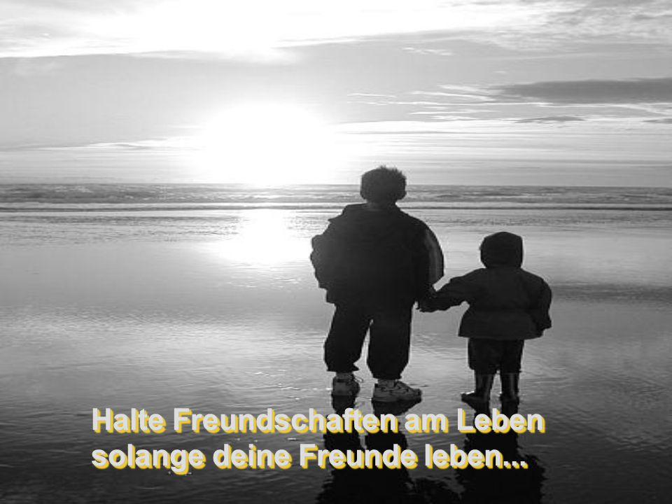 Halte Freundschaften am Leben solange deine Freunde leben...