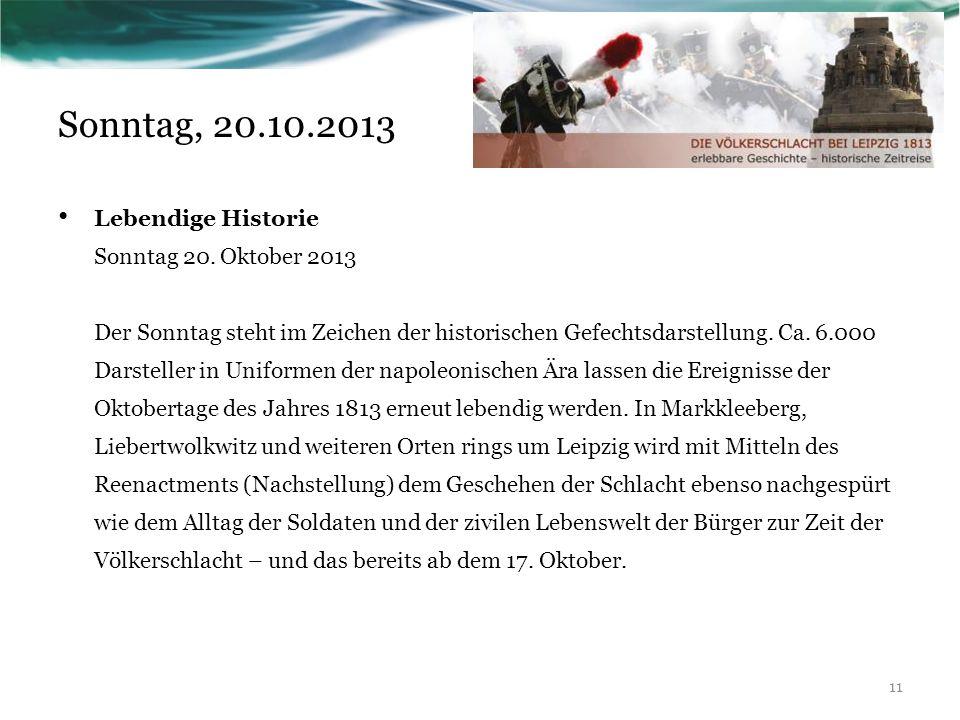 Lebendige Historie Sonntag 20.