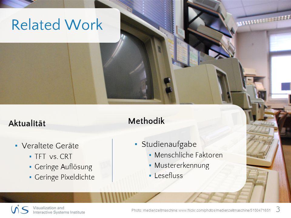 Related Work Aktualität ▪ Veraltete Geräte ▪ TFT vs.
