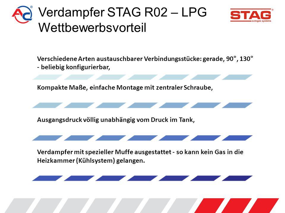 """Verdampfer STAG R02 – LPG Wettbewerbsvorteil Abdeckung aus Kunststoff verhindert Abkühlung des Gases in der Gasphase – für stabileren Ausgangsgasdruck, geringer Druckabfall, kein """"Pumpen beim Cut-off."""