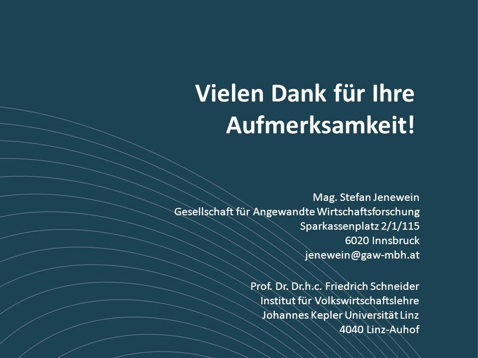 15 / 14 JKU und GAW Mag. Stefan Jenewein Gesellschaft für Angewandte Wirtschaftsforschung Sparkassenplatz 2/1/115 6020 Innsbruck jenewein@gaw-mbh.at P