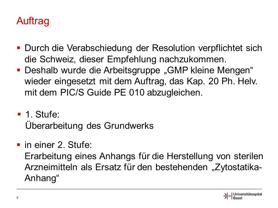 Auftrag 9  Durch die Verabschiedung der Resolution verpflichtet sich die Schweiz, dieser Empfehlung nachzukommen.