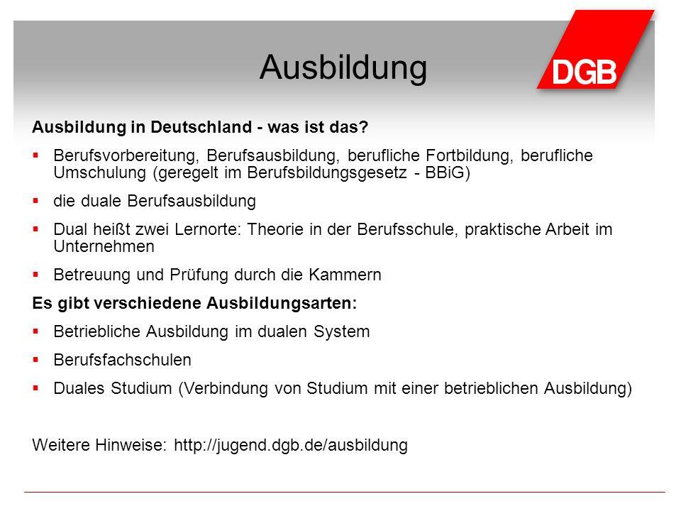 Ausbildung in Deutschland - was ist das.