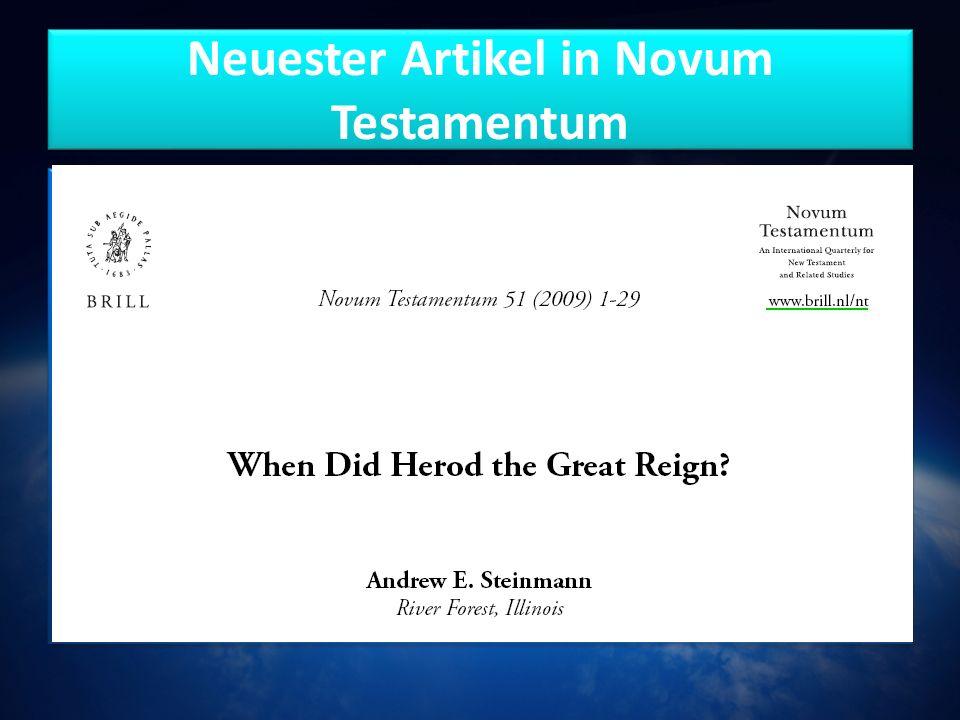 Neuester Artikel in Novum Testamentum