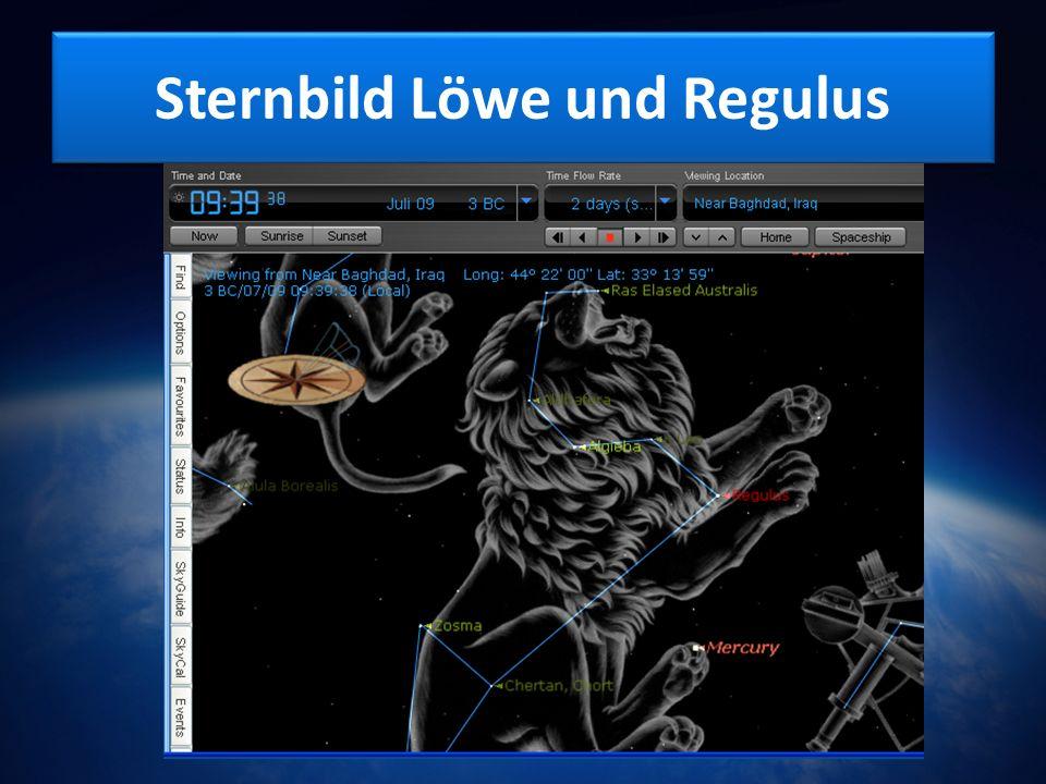 Sternbild Löwe und Regulus