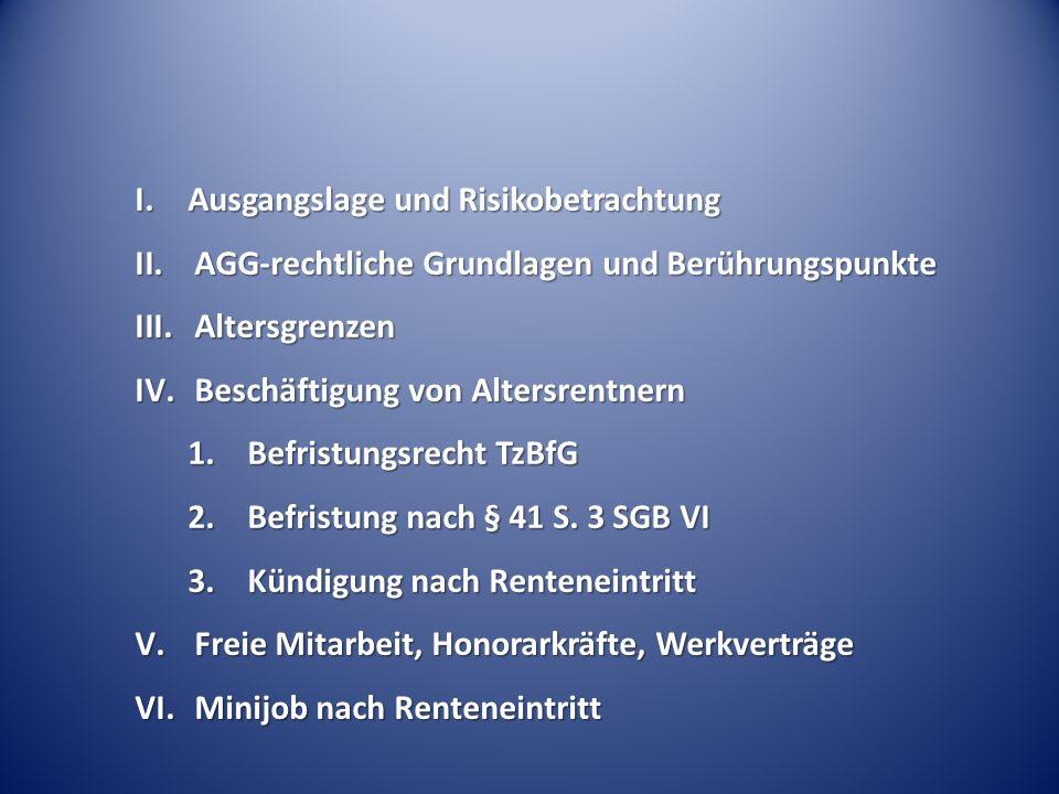 IV. Beschäftigung von Altersrentnern