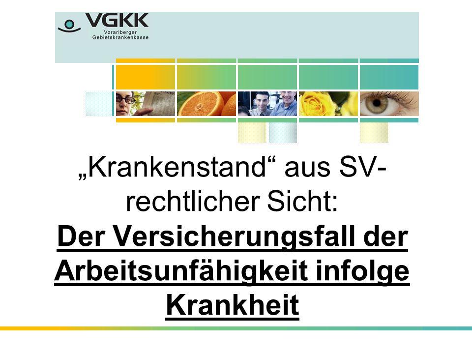 """""""Krankenstand aus SV- rechtlicher Sicht: Der Versicherungsfall der Arbeitsunfähigkeit infolge Krankheit"""