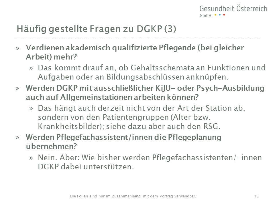 Häufig gestellte Fragen zu DGKP (3) »Verdienen akademisch qualifizierte Pflegende (bei gleicher Arbeit) mehr.