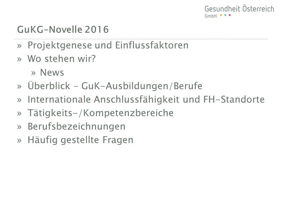 BERUFSBEZEICHNUNGEN GuK-Novelle 2016