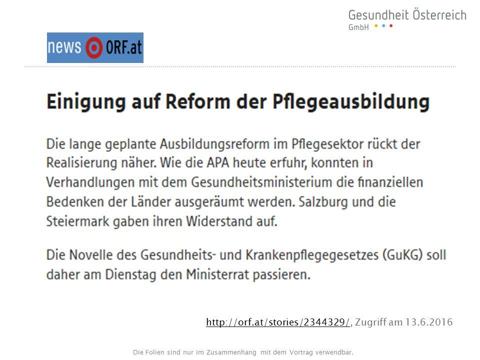 GuKG-Novelle – 2016 .Ausbildungsreform: Wo stehen wir.