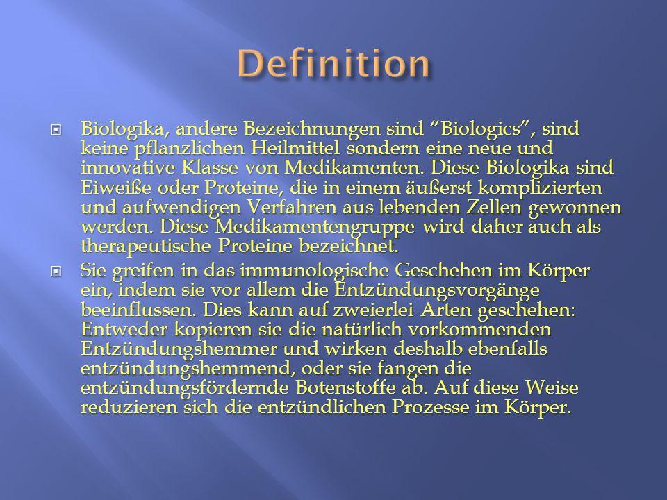 """ Biologika, andere Bezeichnungen sind """"Biologics"""", sind keine pflanzlichen Heilmittel sondern eine neue und innovative Klasse von Medikamenten. Diese"""