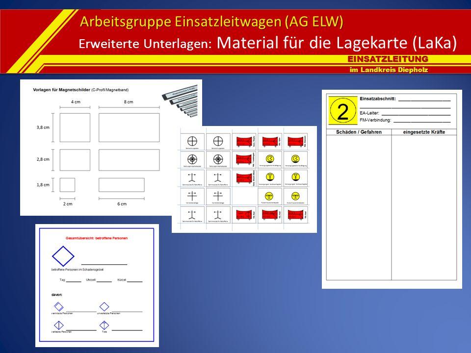 EINSATZLEITUNG im Landkreis Diepholz Arbeitsgruppe Einsatzleitwagen (AG ELW) Erweiterte Unterlagen: Material für die Lagekarte (LaKa)