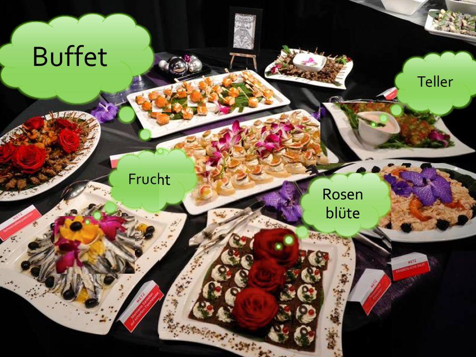 Rosen blüte Frucht Teller Buffet