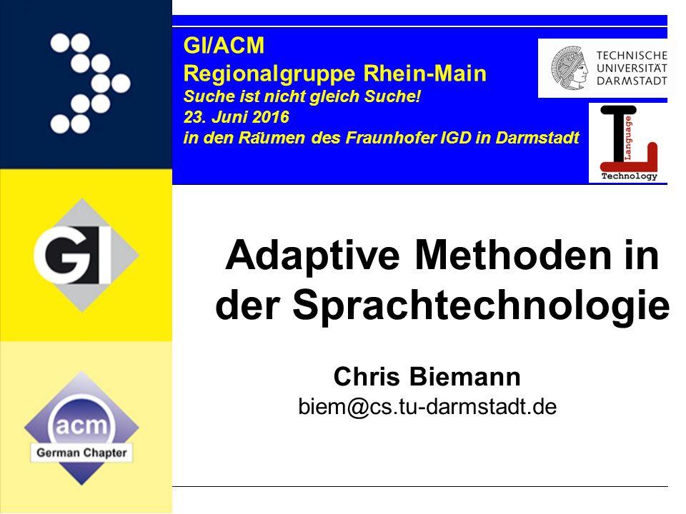 GI/ACM Regionalgruppe Rhein-Main Suche ist nicht gleich Suche.