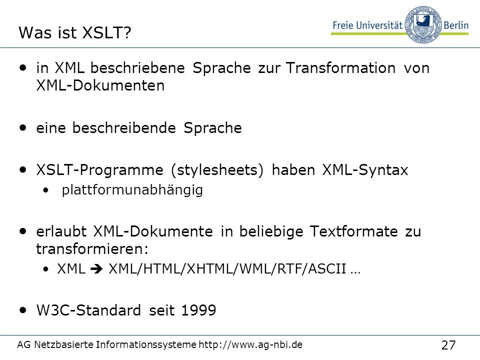 27 Was ist XSLT.