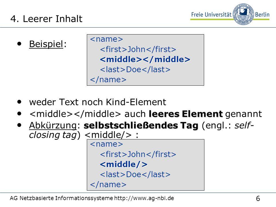 17 AG Netzbasierte Informationssysteme http://www.ag-nbi.de Einfache vs.