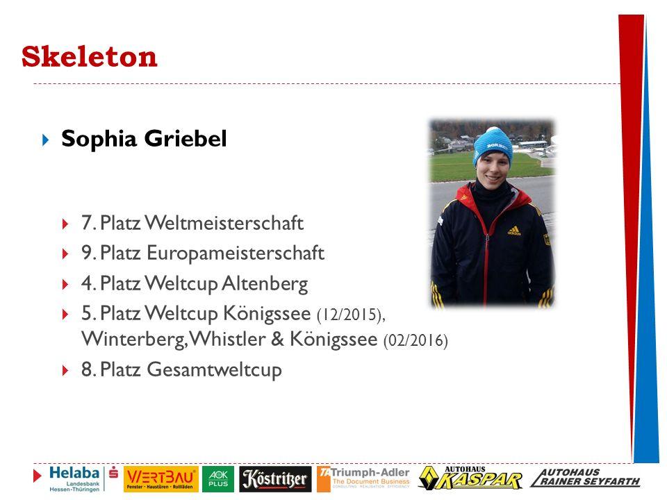  Sophia Griebel  7.Platz Weltmeisterschaft  9.
