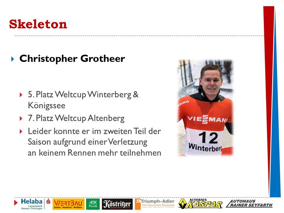 Skeleton  Christopher Grotheer  5.Platz Weltcup Winterberg & Königssee  7.
