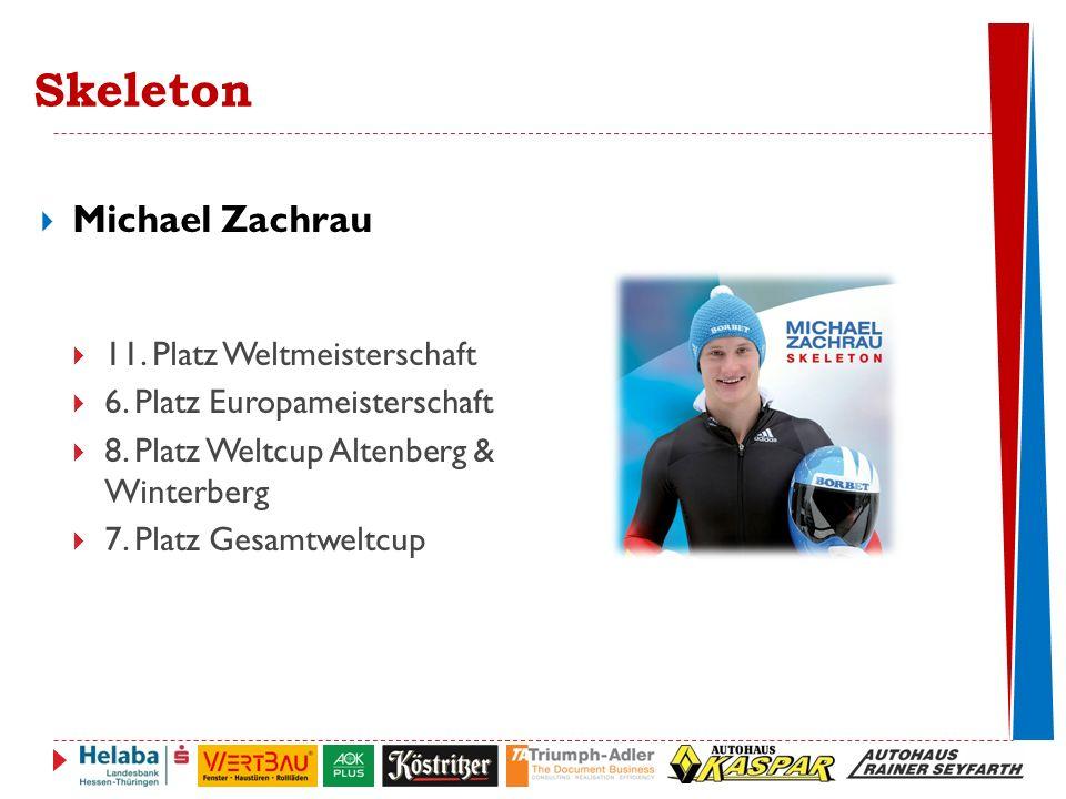 Skeleton  Michael Zachrau  11.Platz Weltmeisterschaft  6.