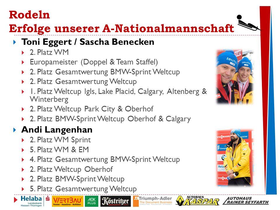 Rodeln Erfolge unserer A-Nationalmannschaft  Toni Eggert / Sascha Benecken  2.