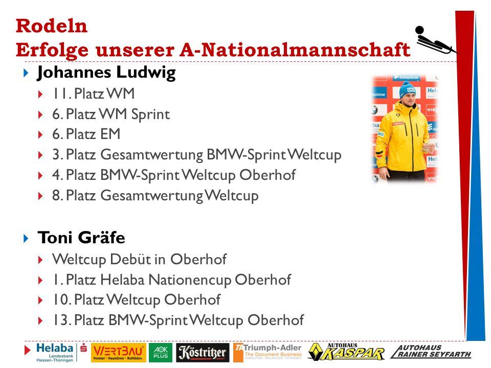 Rodeln Erfolge unserer A-Nationalmannschaft  Johannes Ludwig  11.
