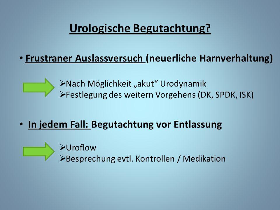 Urologische Begutachtung.