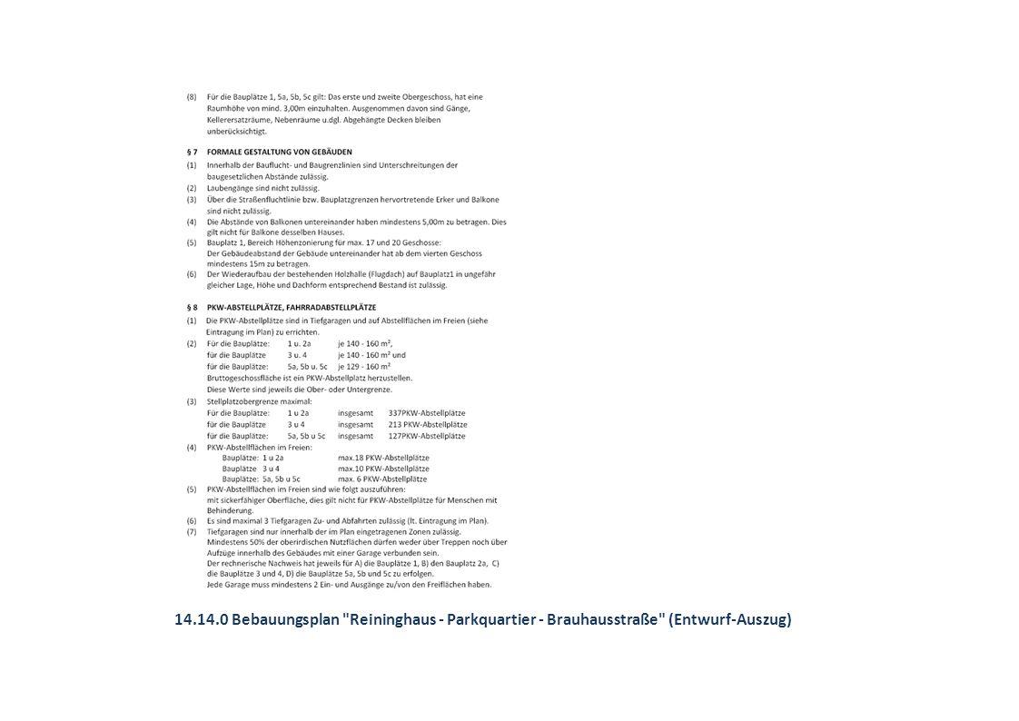 14.14.0 Bebauungsplan