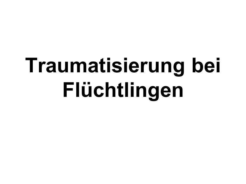 Traumatisierung bei Flüchtlingen