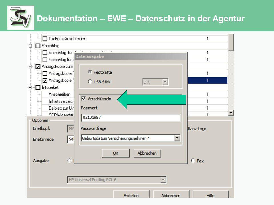 Dokumentation – EWE – Datenschutz in der Agentur
