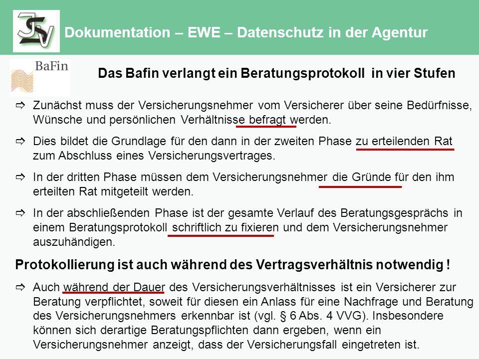 Dokumentation – EWE – Datenschutz in der Agentur Lt.