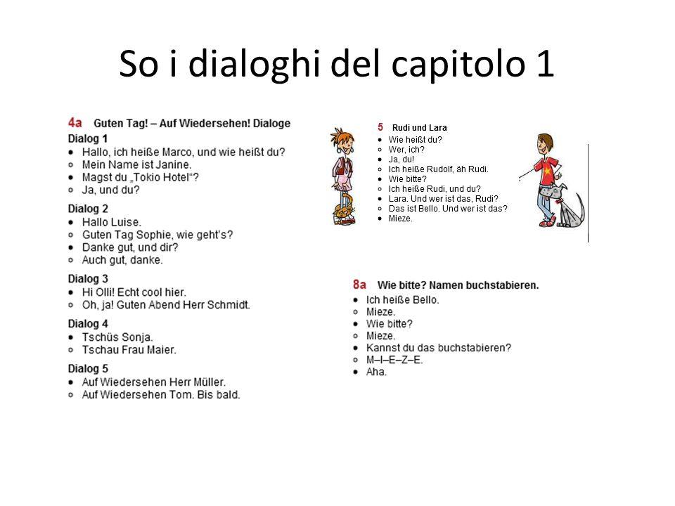 So i dialoghi del capitolo 1