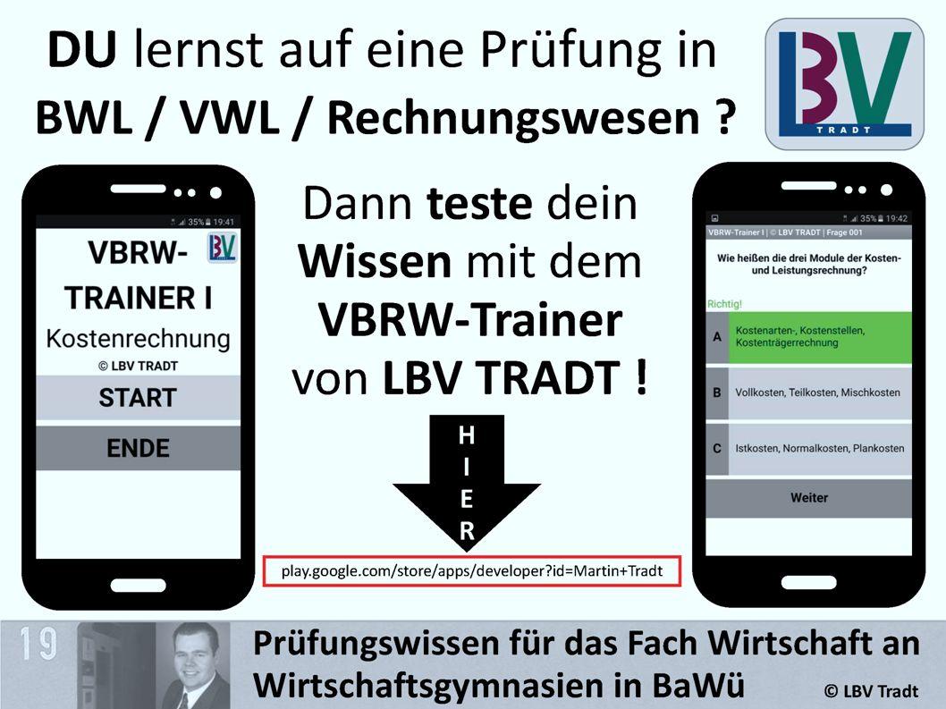 DU lernst auf eine Prüfung in BWL / VWL / Rechnungswesen .