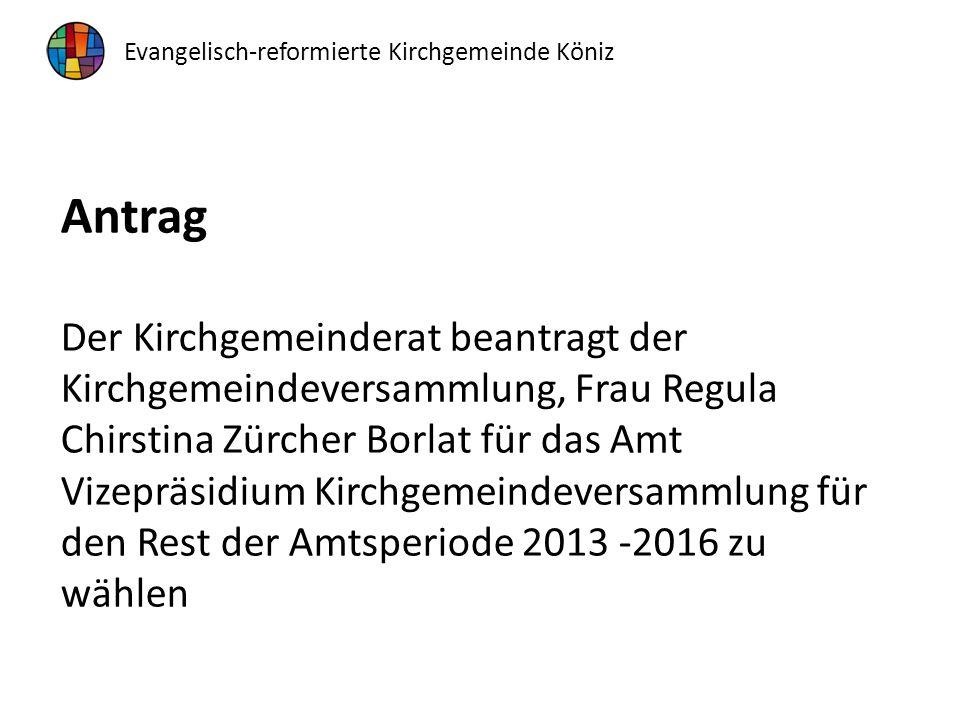 Traktandum 3 Jahresrechnung 2015 Kenntnisnahme und Genehmigung Sprecher: Rudolf Krähenbühl, Ressortvorsteher Finanzen Evangelisch-reformierte Kirchgemeinde Köniz