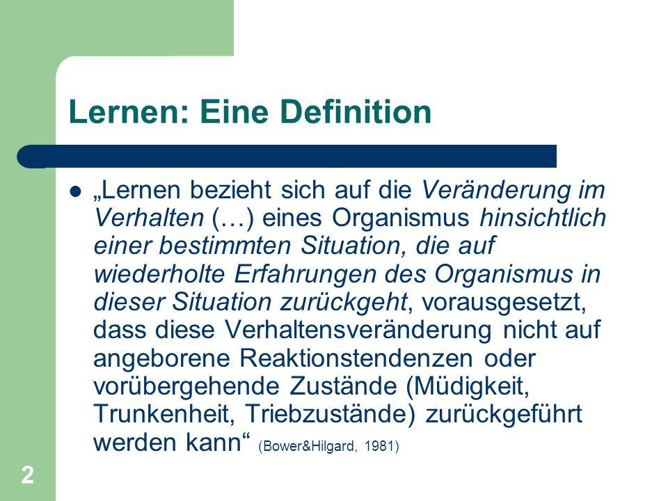 13 3 Gruppen von Lerntheorien 1.Kognitionspsychologische Theorien 2.Behaviouristische Theorien 3.Sozial-konstruktivistische Theorien