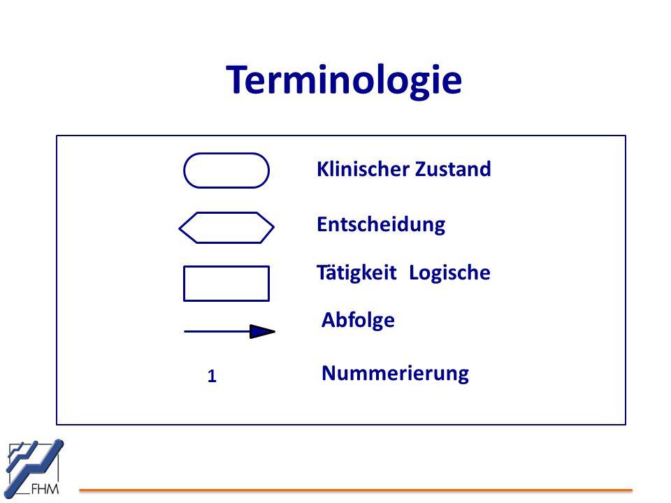 Klinischer Zustand Entscheidung Tätigkeit Logische Abfolge Nummerierung 1 Terminologie