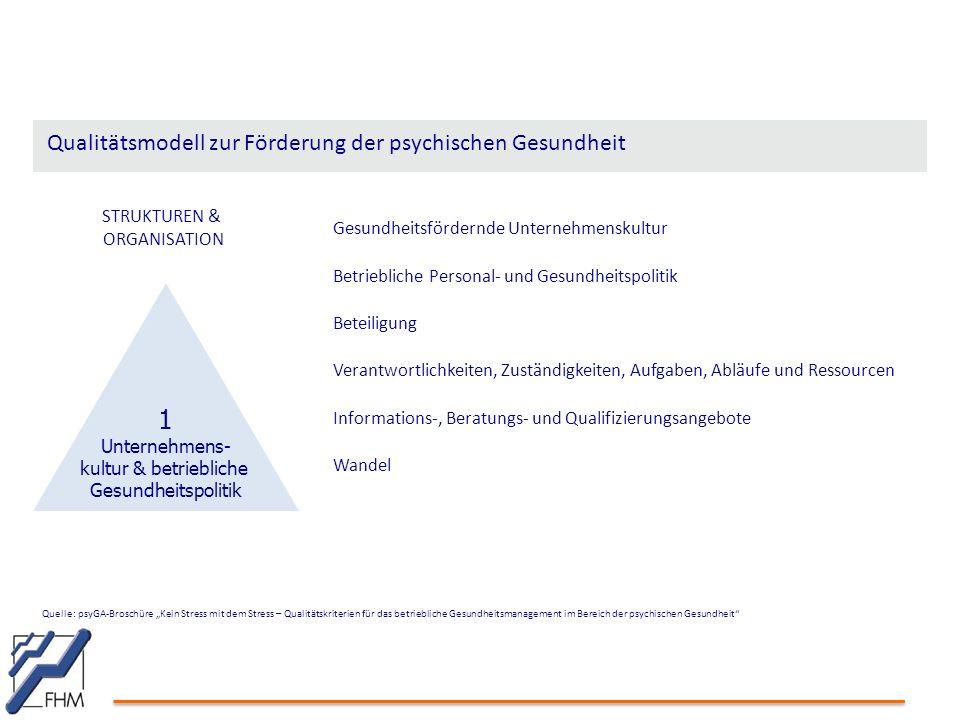 """Quelle: psyGA-Broschüre """"Kein Stress mit dem Stress – Qualitätskriterien für das betriebliche Gesundheitsmanagement im Bereich der psychischen Gesundh"""