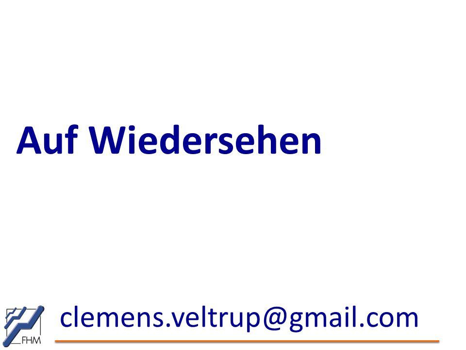 Auf Wiedersehen clemens.veltrup@gmail.com